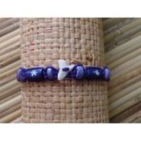 Bracelet violet dent de requin