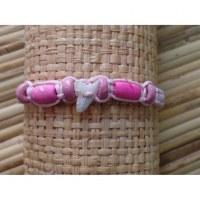 Bracelet rose pâle dent de requin