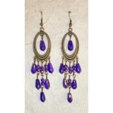 Pendants d'oreilles Tukata violettes