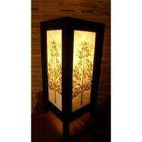 Lampe blanche arbre doré