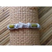 Bracelet blanc dent de requin