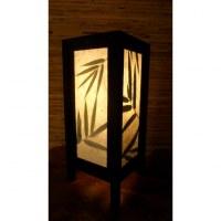 Lampe feuilles bambou