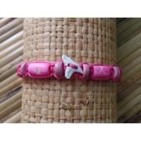 Bracelet rose dent de requin