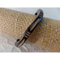 Bracelet gravé vague
