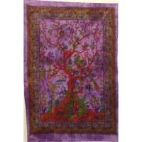 Mini tenture arbre de vie fleuri violette