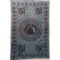 Tenture bleue Bouddha