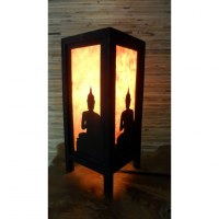 Lampe orange ombre de Bouddha