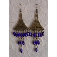 Boucles d'oreilles Phitsamaï violettes