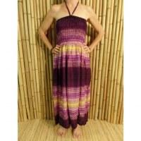 Robe violette/jaune fresque