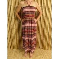 Robe rayée kashmeer