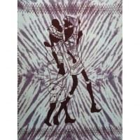 Tenture bleue balade africaine