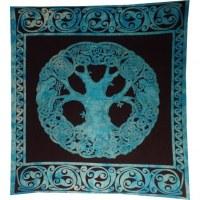 Tenture maxi arbre de vie celte bleu/noir