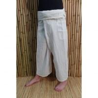 Pantalon pêcheur Thaï Bang Saen blanc 2