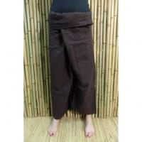 Pantalon pêcheur Thaï Bang Saen marron foncé