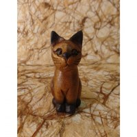Sculpture chaton assis