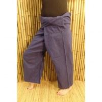 Pantalon de pêcheur Thaï bleu de minuit