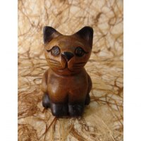 Sculpture chaton dodu assis