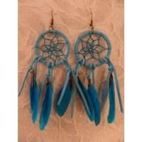 Pendants d'oreilles hisey bleu