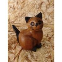Sculpture chaton assis queue en l'air