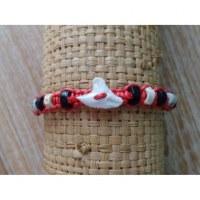 Bracelet dent de requin fraise