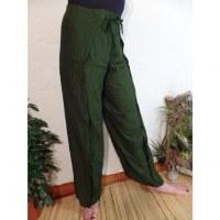 Pantalon paréo vert mousse
