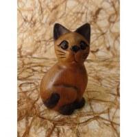 Sculpture profil chaton