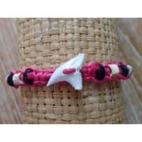 Bracelet dent de requin framboise