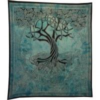 Tenture maxi bleue arbre de vie celtique