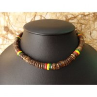 Collier gelombang marron/rasta