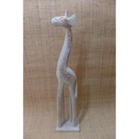 Girafe blanc et or