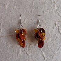 Pendants d'oreilles See orange