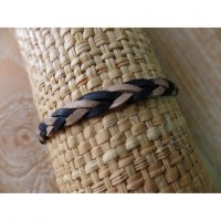 Bracelet cuir tressé Tyas 3 couleurs