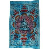 Petite tenture lotus Bouddha bleu