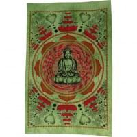 Petite tenture lotus Bouddha vert
