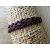 Bracelet natté Rahmat marron