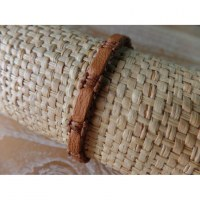 Bracelet macra Endang marron clair