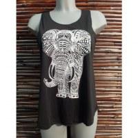 Débardeur noir bel éléphant