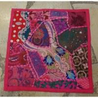 Housse carrée rose Jammu