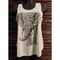 Débardeur éléphant motif géo 2