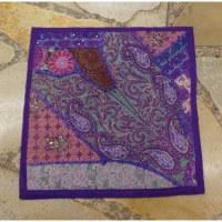 Housse carrée Jammu violet myrtille