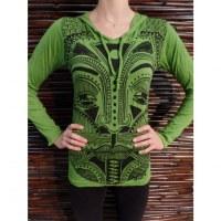 T shirt vert Bouddha