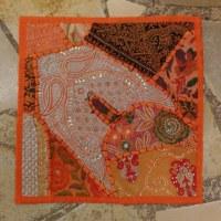 Housse carrée Jammu potiron