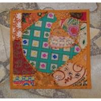 Housse carrée Jammu abricot