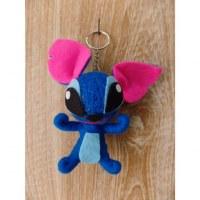Porte-clés bleu big Stitch