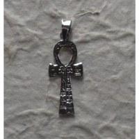 Pendentif argent croix de vie égyptienne