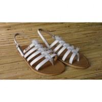 Sandales Tropéziennes Hérisson blanc mat