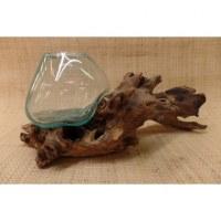 Décoration bois flotté et verre soufflé