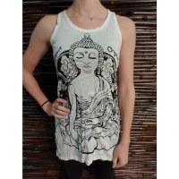 Long débardeur blanc Bouddha Thaï