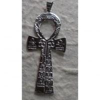 Grand pendentif argent croix de vie égyptienne