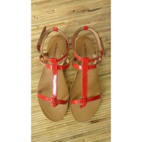 Sandales Tropéziennes Hilan vernis rouge